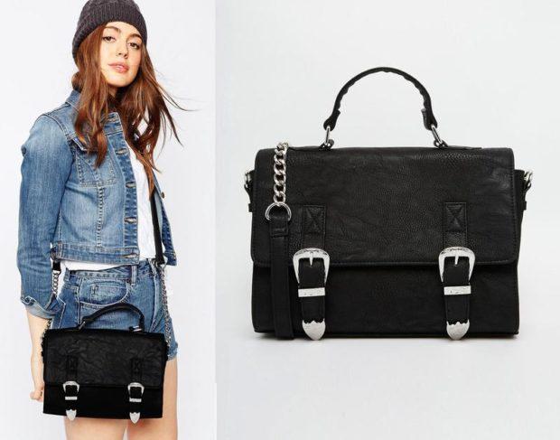 модные сумки весна лето 2019: сэтчел черная