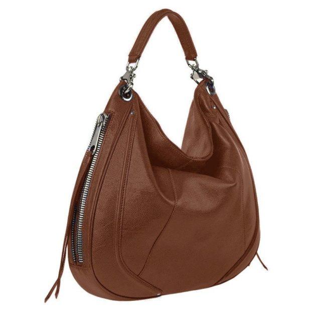 модные сумки весна лето 2019: хобо коричневая кожаная