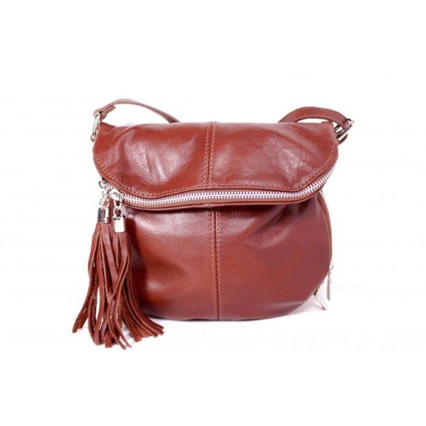 модные сумки весна лето 2019: через плечо коричневая