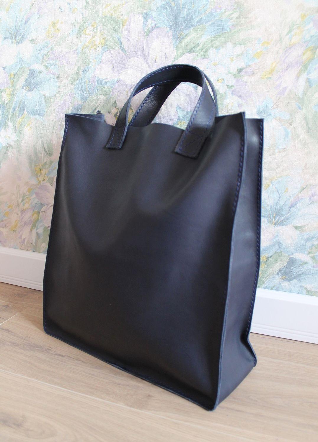 модные сумки весна лето 2019: шоппер черная
