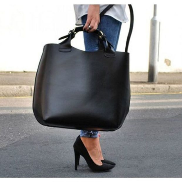 модные сумки весна лето 2019: шопперы черная