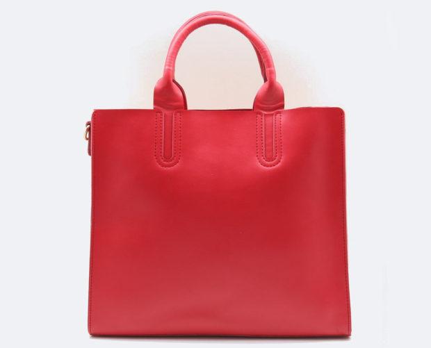 модные сумки весна лето 2019: шопперы красная
