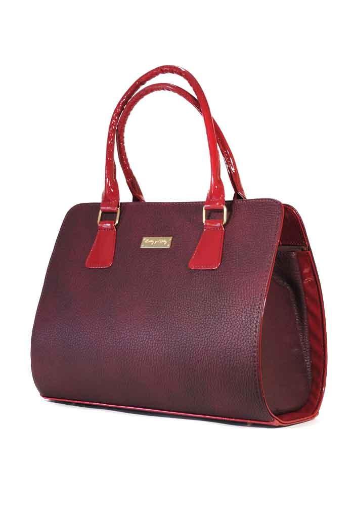 модные сумки весна лето 2019: каркасная бордовая