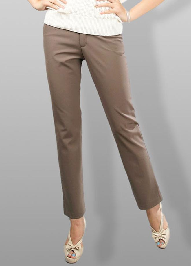 модные брюки весна лето 2019: коричневые укороченные