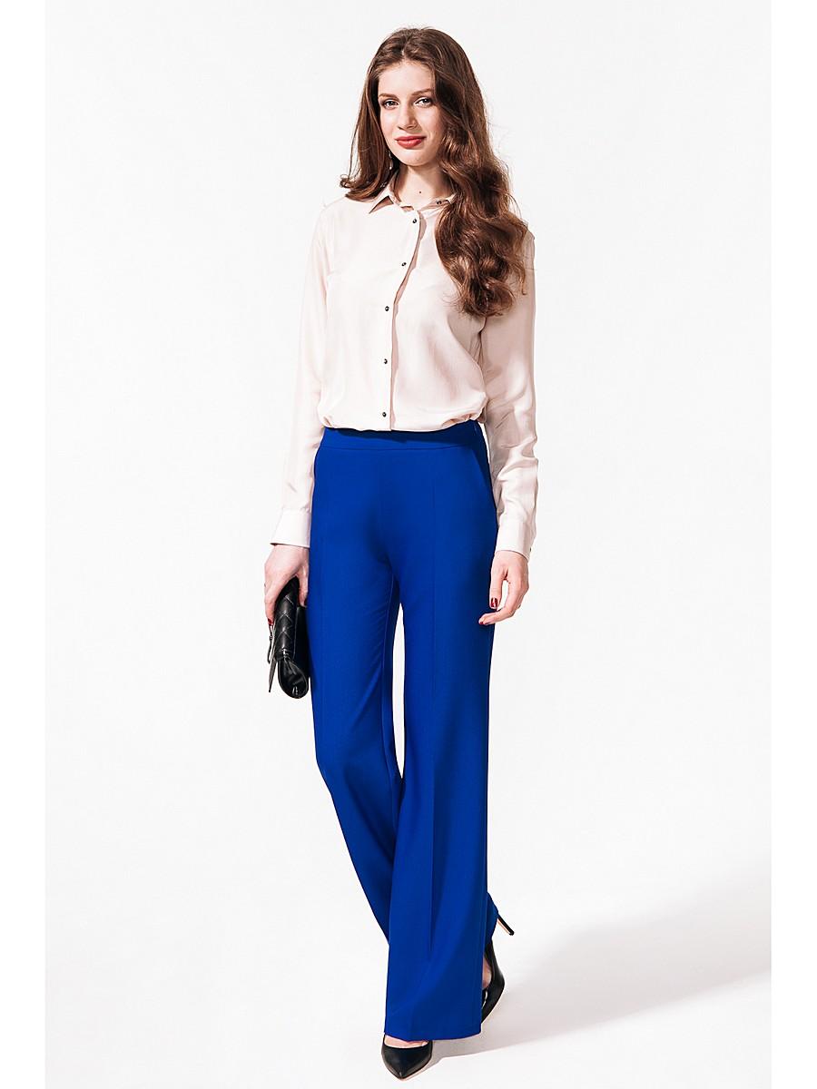 женские брюки весна лето 2019: клеш синие
