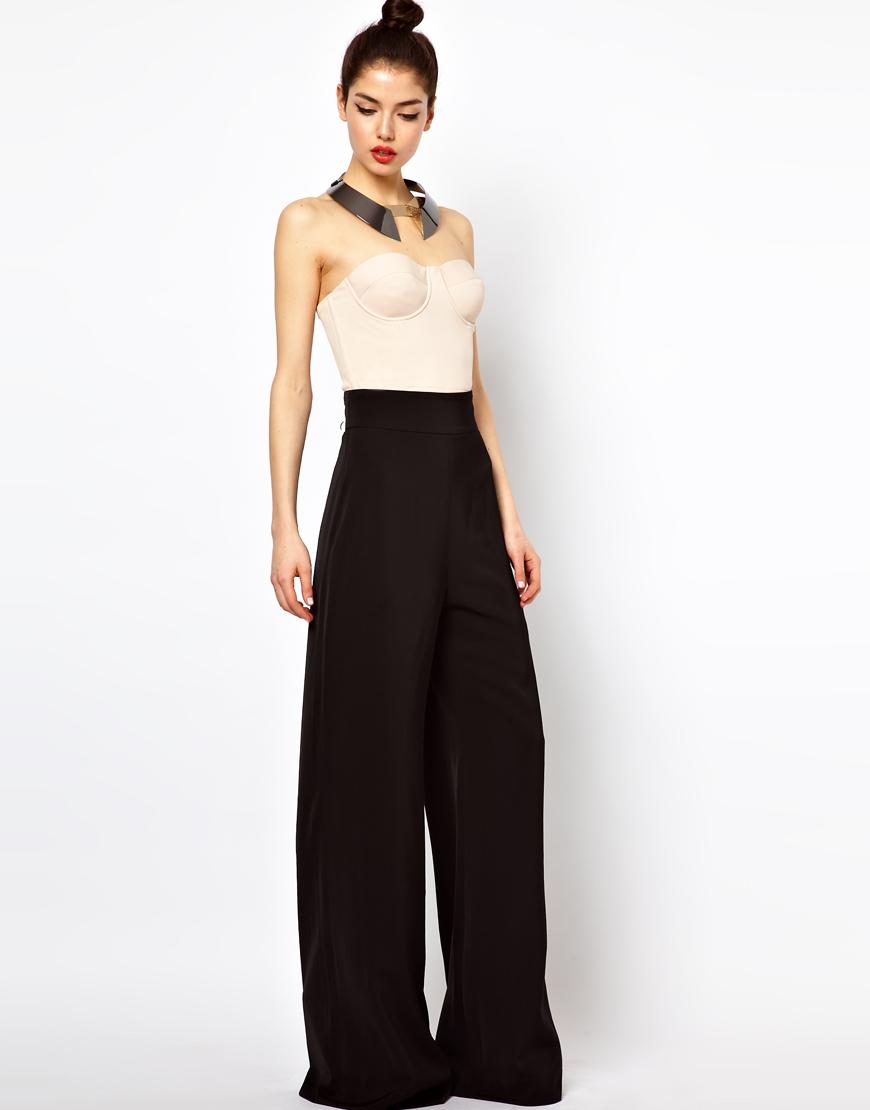 женские брюки весна лето 2019: клеш от бедра черные