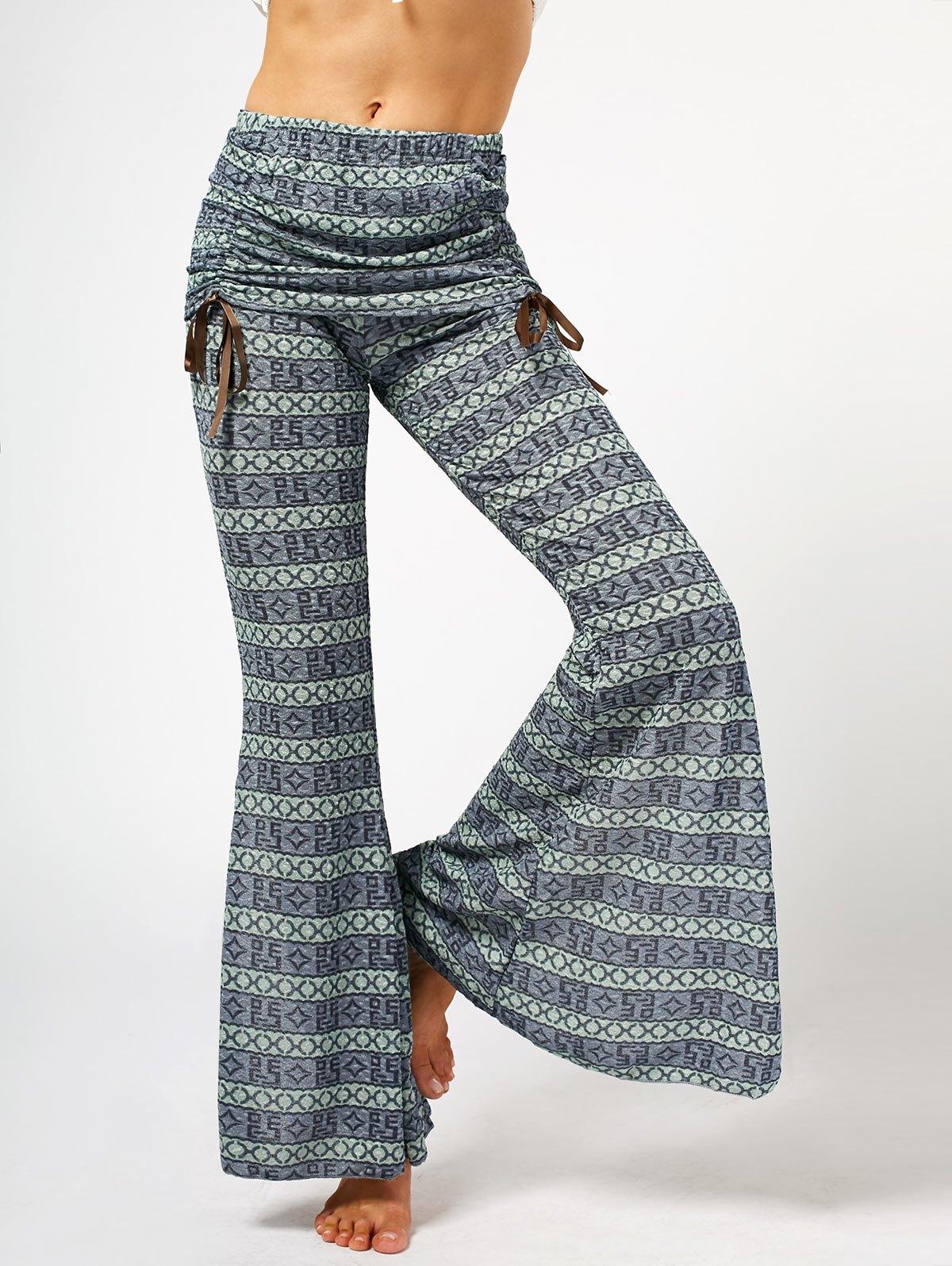модные брюки весна лето 2019: в орнамент клеша