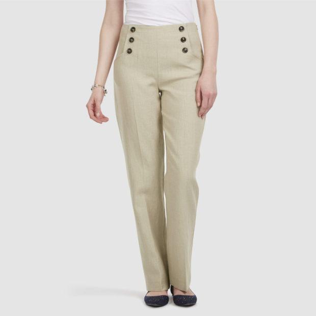 модные женские брюки весны лета 2019: с высокой талией светлые прямые