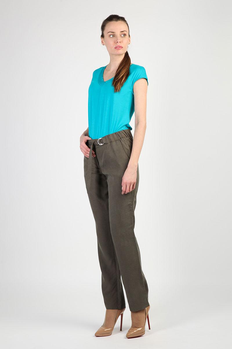 модные женские брюки весны лета 2019: прямые зеленые