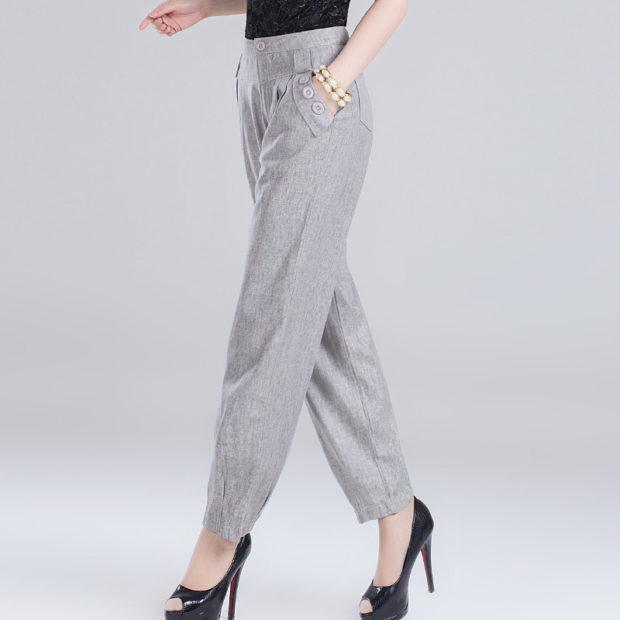 модные женские брюки весны лета 2019: прямые серые