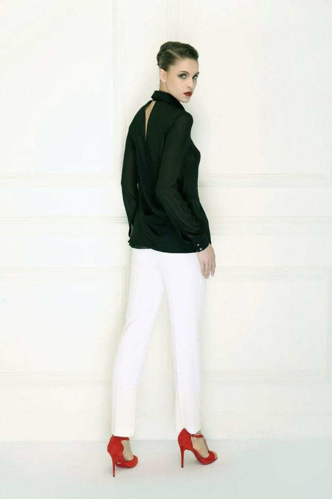 модные женские брюки весны лета 2019: зауженные белые