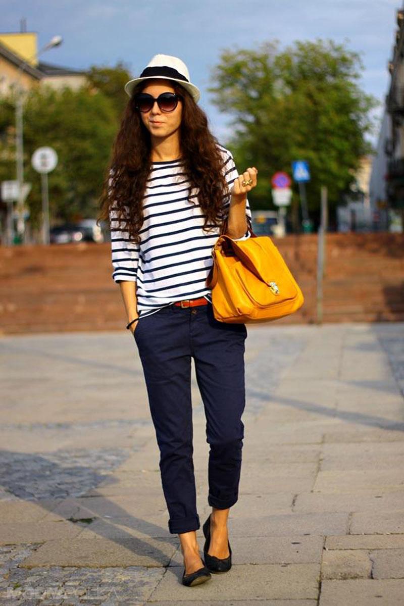 модные женские брюки весны лета 2019: чинос синие