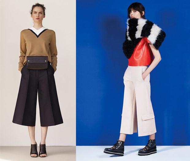 брюки весна лето 2019 года модные: бермуды черные белые с карманами