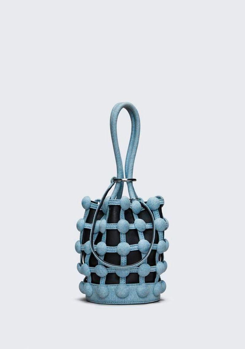сумка-мешок черная с голубым