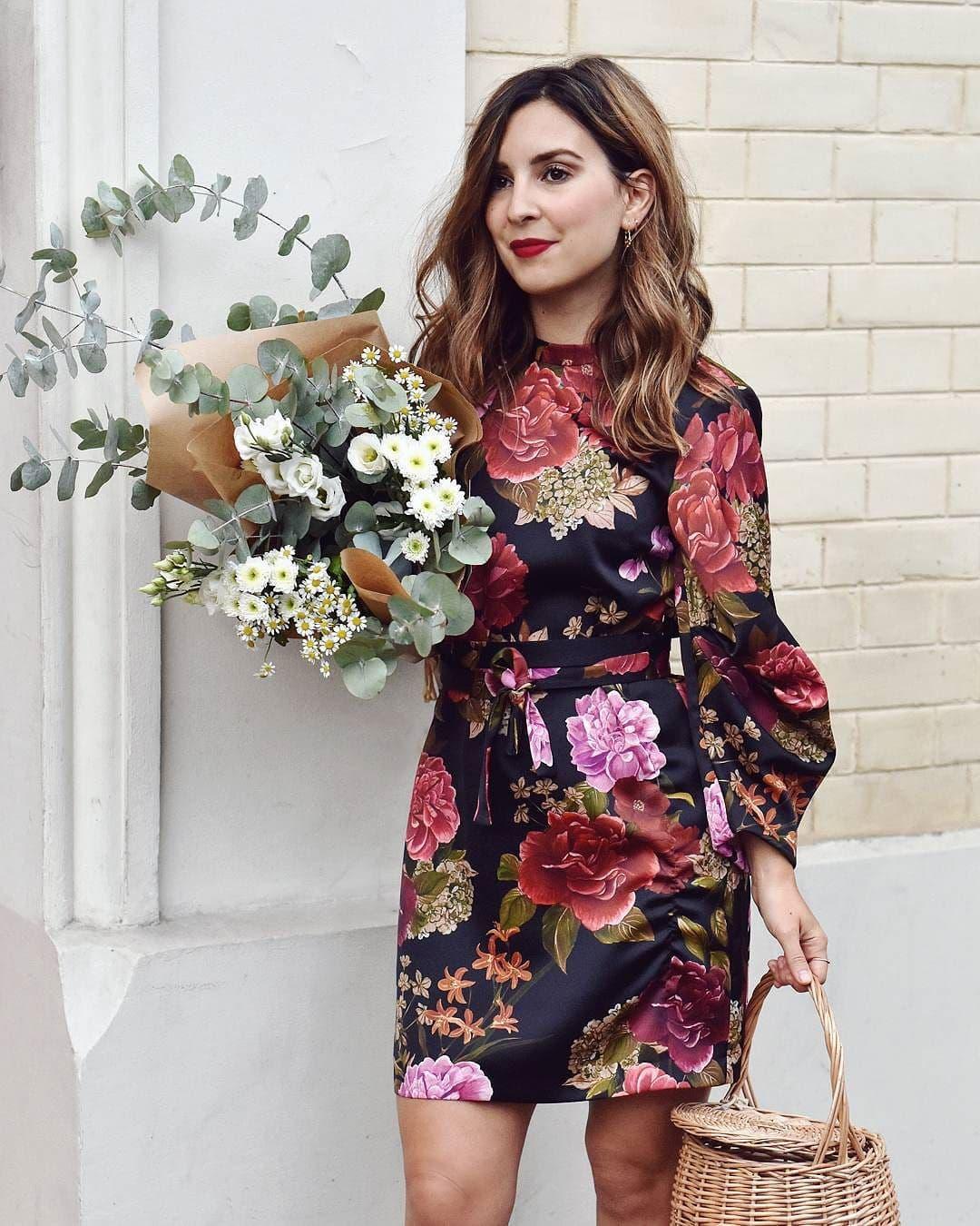 модные тенденции весна лето 2019: платье в цветы яркое