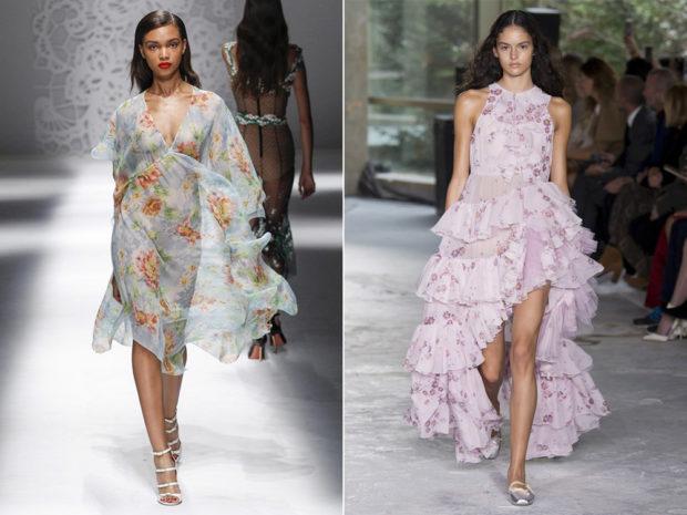модные тенденции весна лето 2019: легкие прозрачные платья