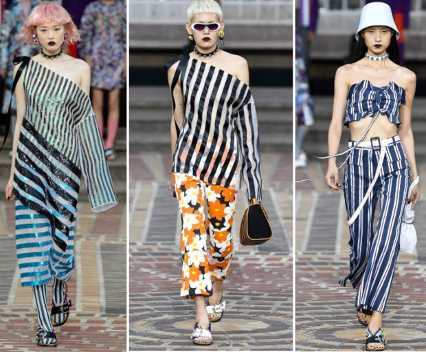 модные тенденции весна лето 2019: полосатая мода брюки и блуза брюки и топ