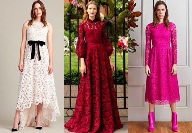 ажурное платье асимметрия белое красное макси розовое длина миди розовое