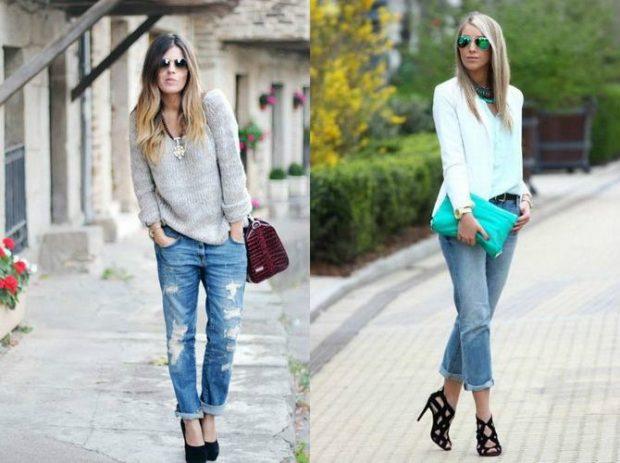 джинсы укороченные рваные под свитер укороченные джинсы под блузу и жакет