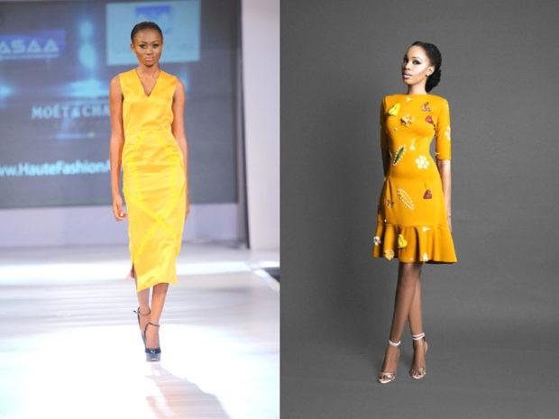 платья желтые яркие