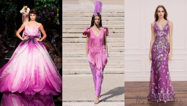 модная одежда цвет крокус