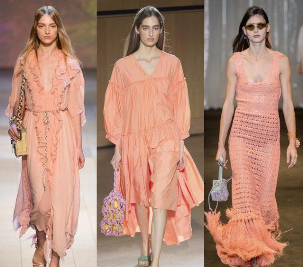 платья в персиковых тонах