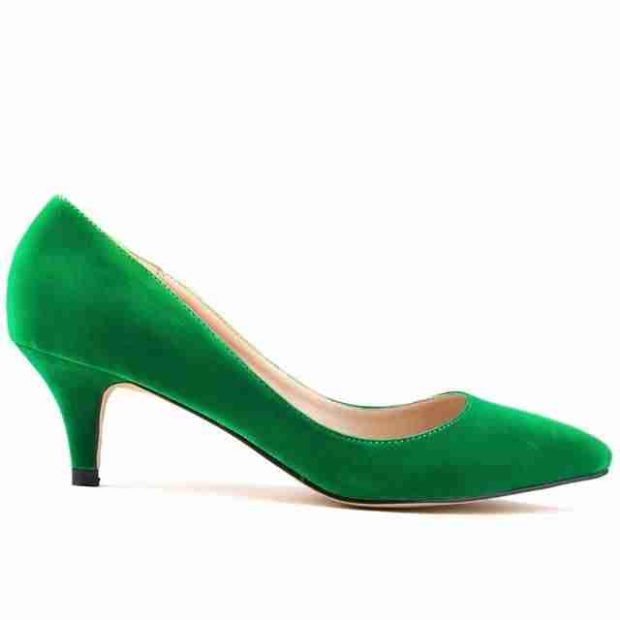зеленые туфли лодочки замша