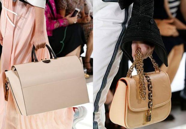 бежевые сумки каркасные