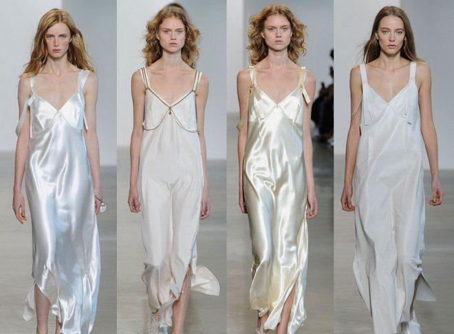 модные тенденции весна лето 2019: платья в бельевом стиле длина макси