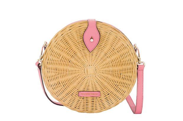 плетеная сумка круглая
