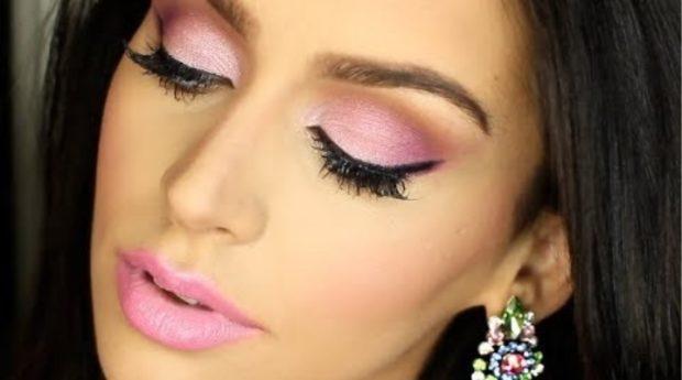 розовые тени и губы