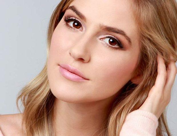 натуральный макияж в розовых тонах