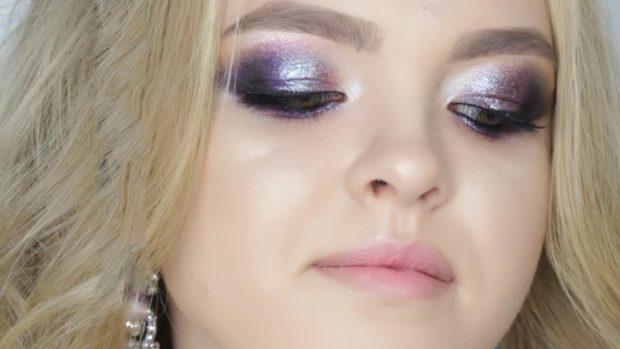фиолетовые тени блестящие