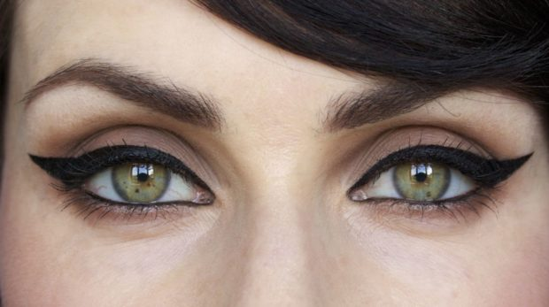 массивные стрелки черные кошачий глаз