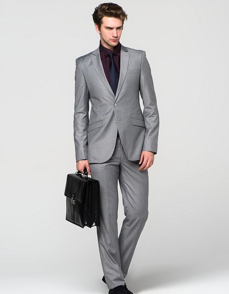 мужская мода весна 2019: серый классический костюм