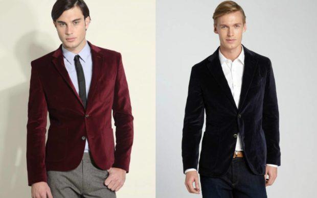 красный черный бархатный пиджак