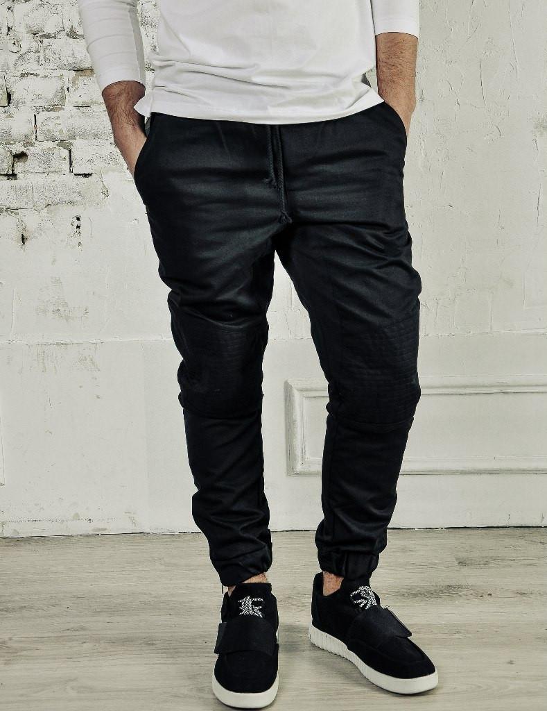 мужская мода 2019 весна лето: черные зауженные брюки