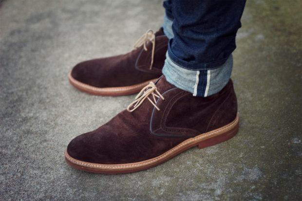 туфли коричневые замша