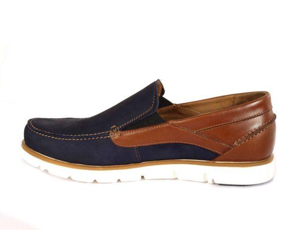 мужская мода весна 2019 основные тенденции: топсайдеры коричневые с синим