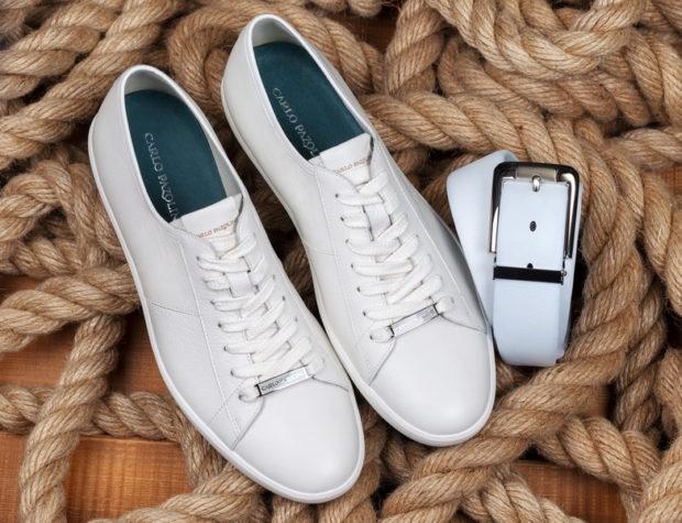 белые кеды на шнуровке