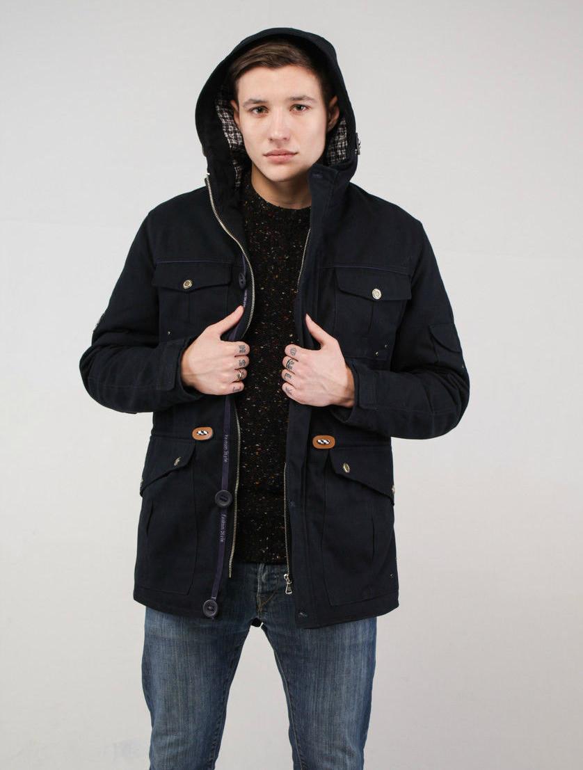 куртка парка черная короткая