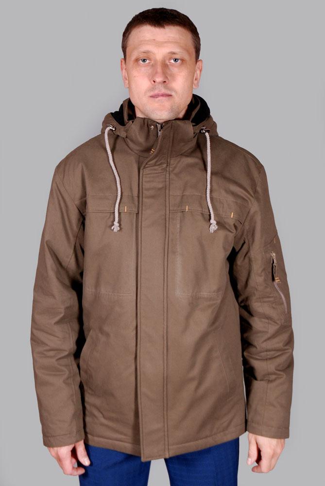 спортивная коричневая куртка