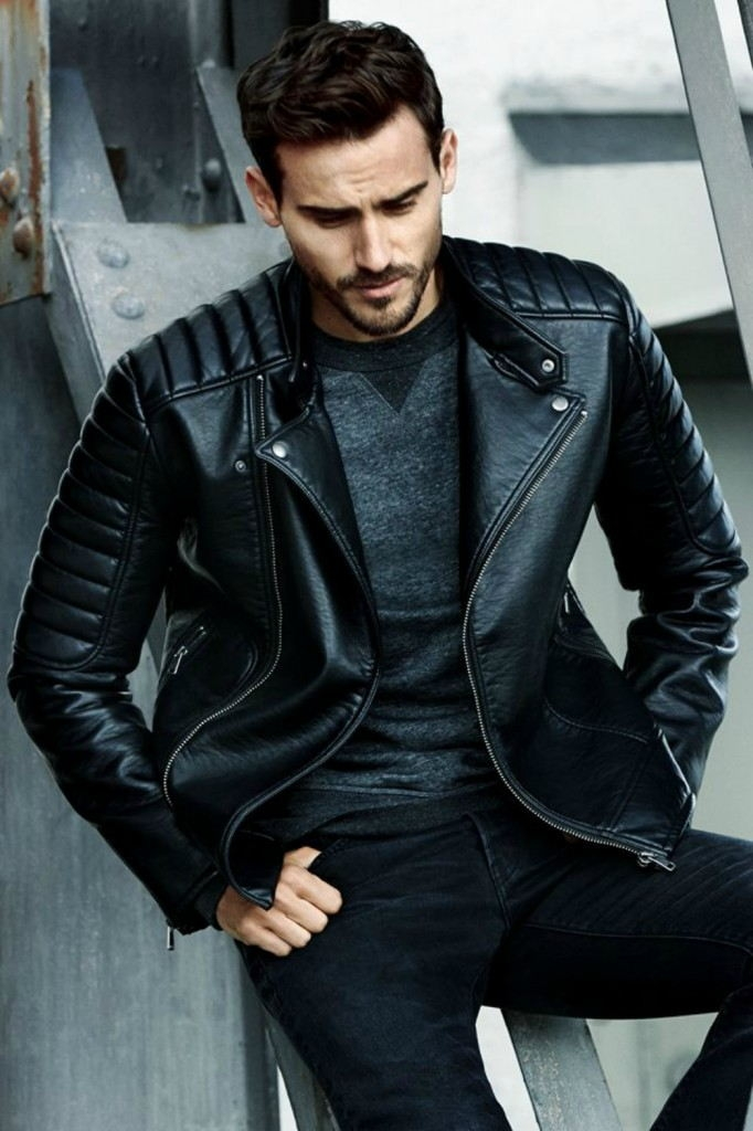 мужская мода весна 2019 основные тенденции: черная кожаная куртка