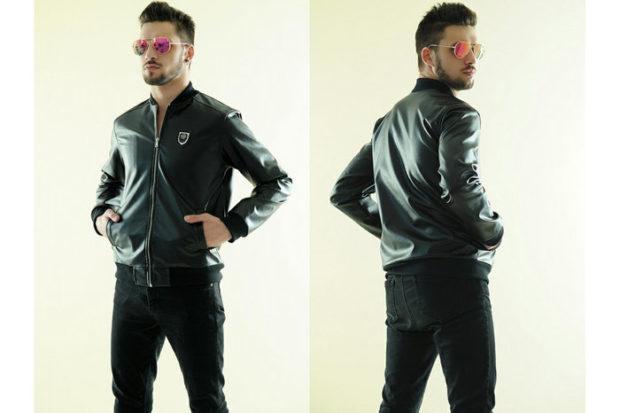 кожаная куртка бомбер