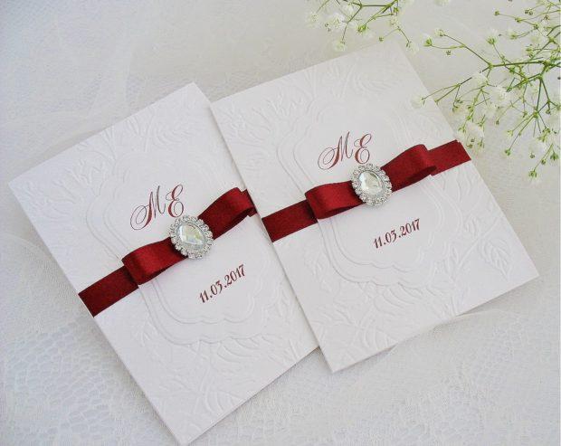украшение свадьбы цвета марсала: приглашение