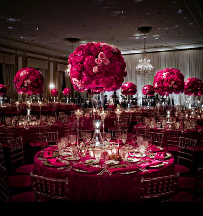 свадьба цвета марсала украшение зала