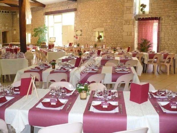свадьба цвета марсала украшение зала: оформление с белым