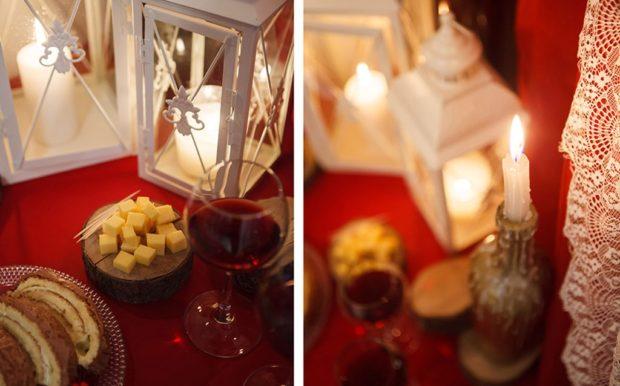 свадьба цвета марсала украшение зала: скатерть