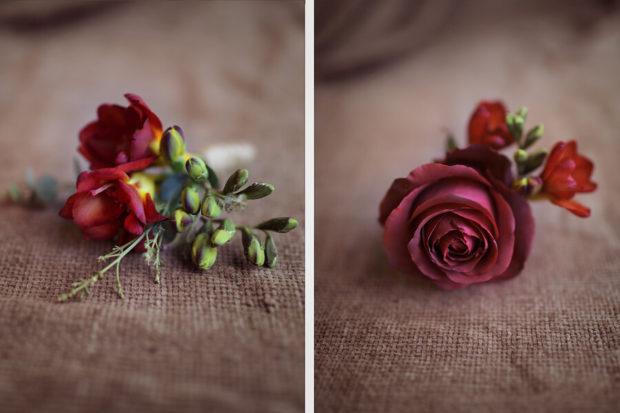 свадьба в цвете марсала образ невесты: заколки