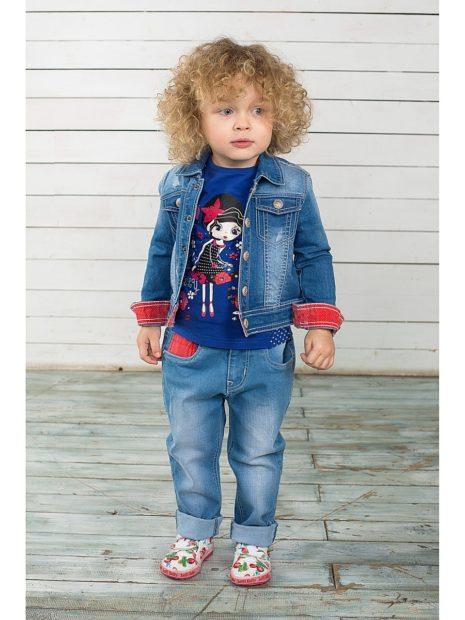 детская мода 2019-2020 для девочек: синий джинсовый костюм